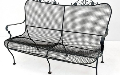 RUSSELL WOODARD Love Seat. Mesh seat and back with Ivy