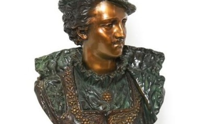 Rancoulet Signed Bronze Bust of a Nobleman