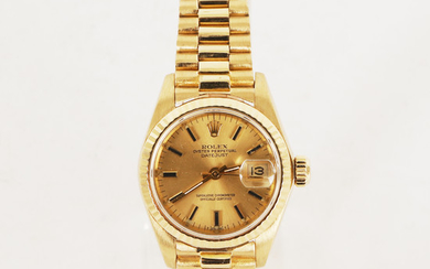 Rolex Oyster Perpetual Datejust Ladies Watch 18k G