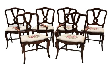 STATESVILLE CHAIR FRENCH NEEDLEPOINT DINING CHAIRS