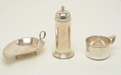Sterling silver tableware, early/mid 20th century.
