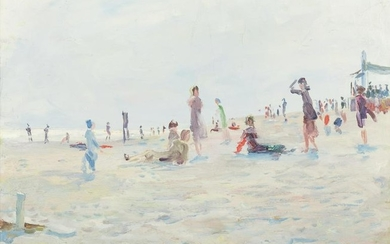 Stokely Webster (American, 1912-2001) The Beach, 1945