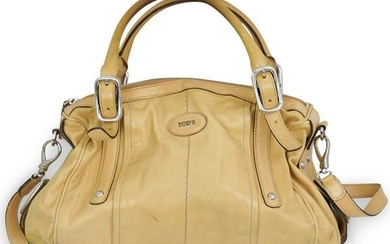 Tods Yellow Leather Shoulder Bag