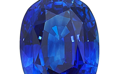 Unmounted Sapphire The unmounted cushion-shaped sapphire measures 10.74 x...