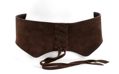 VALENTINO SUEDE BELT 90s Brown suede belt General Conditions grading...