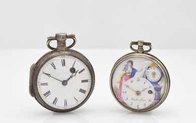 VAUCHER FRERES verge watch with polychrom painted...
