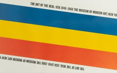 VINTAGE EXHIBITION POSTER MOMA 1968