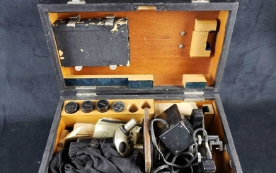 Vintage Carl Zeiss Microscope Box and Contents