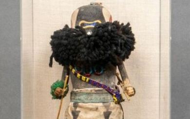 Zuni or Hopi Sip-ikne Warrior Kachina Figure