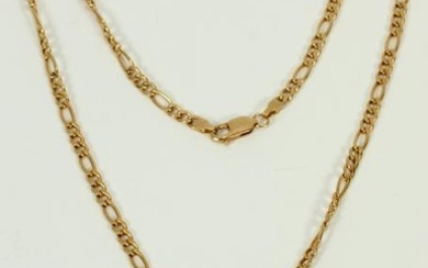 14KT GOLD CHAIN & ANCHOR PENDANT, L 20""