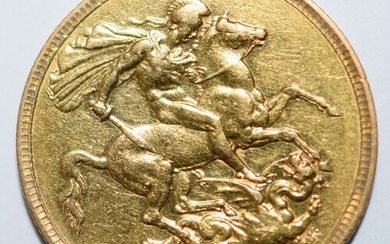 1893 Gold Full Sovereign - Queen Victoria - Melbourne Mint