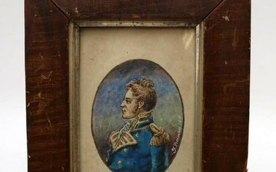 19th Century Miniature Portrait Painting