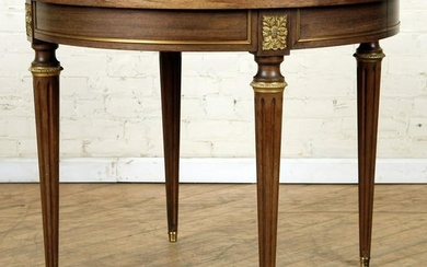 FRENCH MAHOGANY BRONZE MOUNTED DINING TABLE