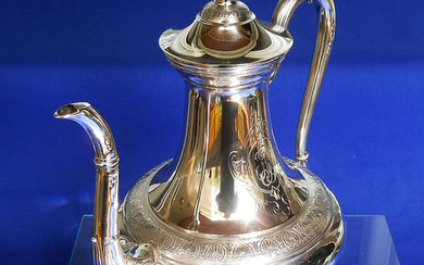 Coffee pot - .950 silver - Flamant et Fils - France - Second half 19th century