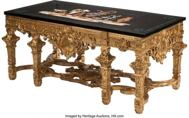 61067: A Regence-Style Gilt and Carved Hardwood Table w