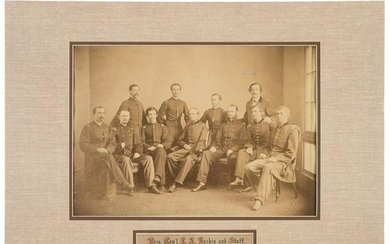 Brigadier General Joseph A. Haskin and Staff, Albumen