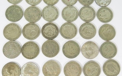 A Collection of .500 Silver Crowns, 461g