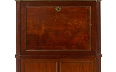 A Directoire Style Mahogany and Marble-Top Secretaire a