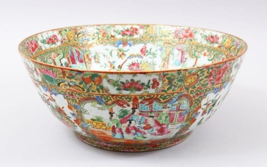 A GOOD 19TH CENTURY CHINESE CANTON FAMILLE ROSE BOWL,