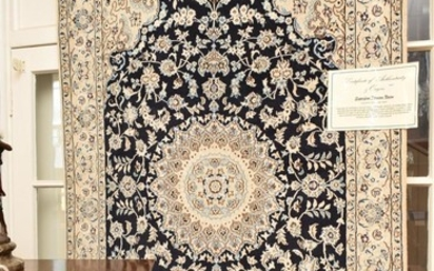 A NEW AND FINELY HAND KNOTTED PERSIAN NAIEN CARPET, SILK INLAYS WITHIN A WOOL PILE, SUPERFINE WEAVE OF APPROXIMATELY 500,000 KNOTS P...