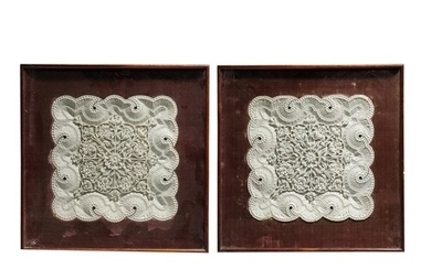 A PAIR OF FINELY CARVED ALABASTER RELIEFS, NORTHERN INDIA, P...