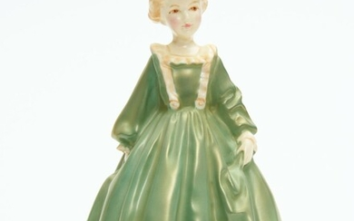A ROYAL WORCESTER GRANDMOTHER'S DRESS FIGURE BY F C DOUGHTY, 17 CM HIGH, LEONARD JOEL LOCAL DELIVERY SIZE: SMALL