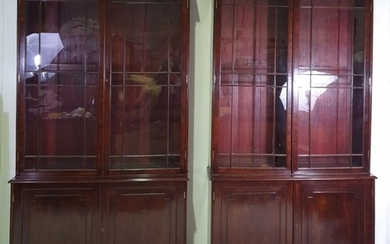 A VERY RARE GOOD QUALITY PAIR OF EARLY 19TH CENTURY GLAZED B...