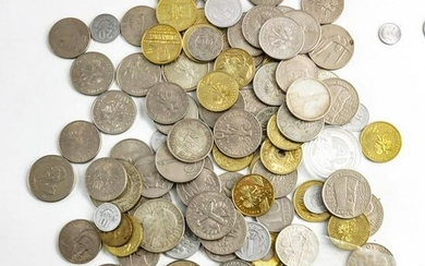 A group of Polish coins, including silver ten z?oty