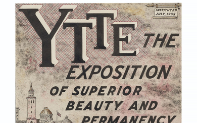 A.G. Rizzoli (1896-1981), Y.T.T.E. The Exposition of Superior Beauty and Permanency, 1935