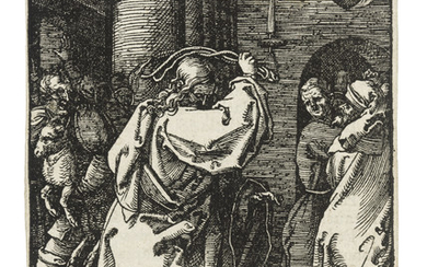 ALBRECHT DÜRER (1471-1528), Christ driving the Money Changers from the Temple, from: The Small Woodcut Passion