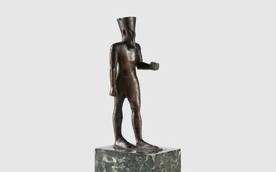 ANCIENT EGYPTIAN FIGURE OF AMUN EGYPT, LATE PERIOD, 664