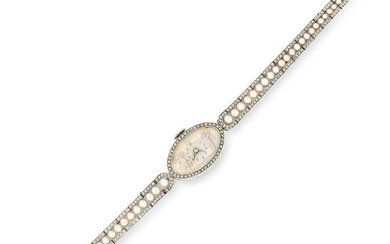 ANTIQUE DIAMOND, PEARL AND MINIATURE WATCH comprising