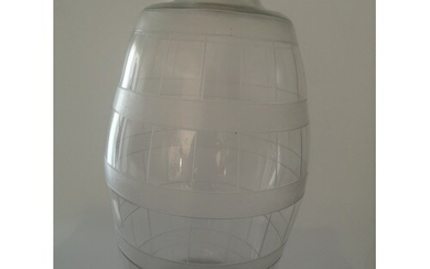 An Unusual Large Glass whisky Barrel. Early 20th century. En...
