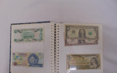 An album of GB and foreign bank notes