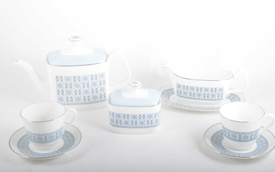 An extensive Royal Doulton bone china table service, Counterpoint pattern.