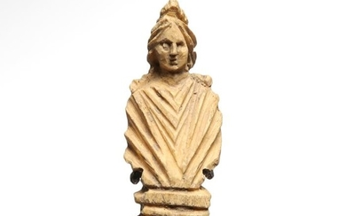 Ancient Roman Bone Bust of a Lady, ex. Christie's
