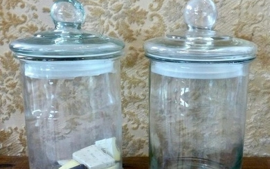 Antique French Apothecary Glass Jars