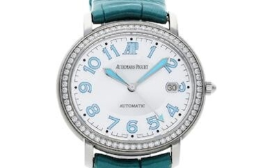Audemars Piguet | Millenary, A Lady's Stainless Steel and Diamond-Set Wristwatch With Date, Circa 2000