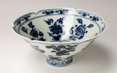CHINESE PORCELAIN BLUE & WHITE BOWL