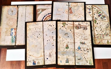 Catalá Atlas;Abraham Cresques - Map of the known world - 1375
