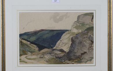 Charles Knight - 'South Downs', mid-20th century watercolour, signed in ink recto, titled