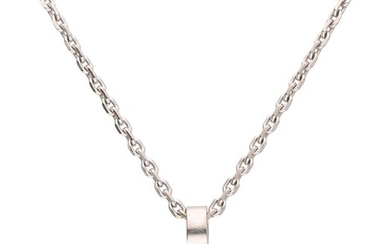 Chopard - 18 kt. White gold - Necklace with pendant - 0.18 ct Diamond