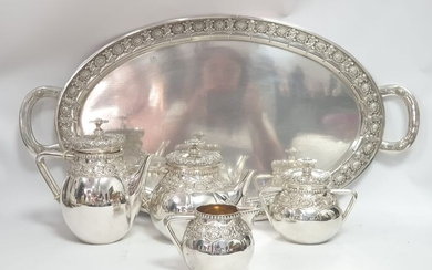 Coffee and tea service - .833 silver - Portugal - Early 20th century