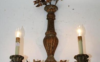 Currey & Co polychrome floral sconce