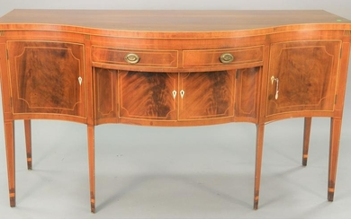 Custom mahogany federal style sideboard, with
