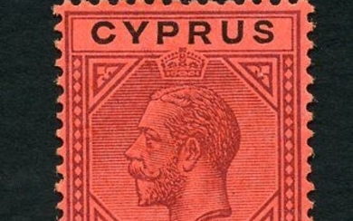 Cyprus 1921 - Effigy of George V - 1 S. red - Unificato N. 83