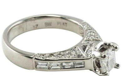 Diamond Engagement Ring Signed BW EGL Certified
