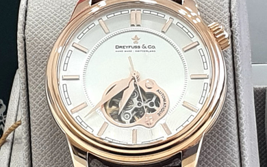 Dreyfuss & Co. - Genuine Leather Strap - IP Gold 18K - DGS00093/02 - Automatic Swiss Made - Men - 2011-present