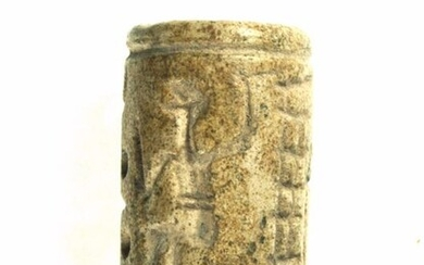 Early Dynastic period steatite Cylinder seals - 19×19×32 mm - (1)
