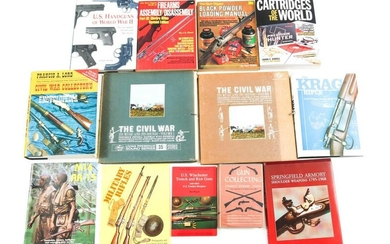 FIREARM AND CIVIL WAR REFERENCE BOOK LOT OF 13